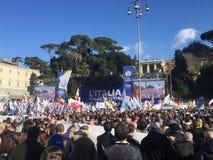 Politisches Ereignis Rom Lega Nords stockbilder