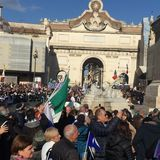 Politisches Ereignis Rom Lega Nords lizenzfreies stockfoto