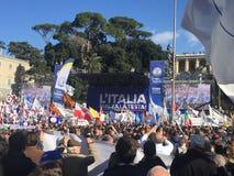 Politisches Ereignis Rom Lega Nords stockfoto