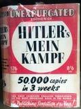 Politisches Ideologiebuch Hitlers Mein Kampe Mein Kampfs Lizenzfreie Stockfotografie