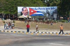 Politisches Zeichen Kubas Stockfotos