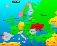 Politisk översikt av Europa vektor illustrationer