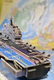 Politisk översikt av militär utrustning Royaltyfria Foton