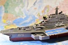 Politisk översikt av militär utrustning Royaltyfri Foto