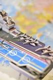 Politisk översikt av militär utrustning Arkivbild
