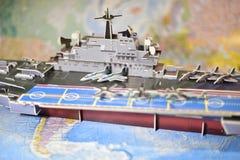 Politisk översikt av militär utrustning Arkivbilder