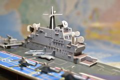 Politisk översikt av militär utrustning Royaltyfria Bilder