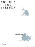 Politisk översikt för Antigua och Barbuda stock illustrationer
