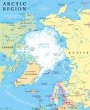 Politisk översikt för arktisk region royaltyfri illustrationer