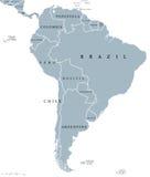Politisk översikt för Sydamerika länder stock illustrationer