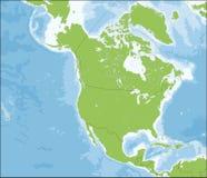 politisk Amerika kontinental översikt north stock illustrationer