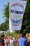 Politisk demonstration i Rome Arkivfoton