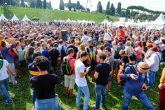 Politisk demonstration i Rome Royaltyfri Foto
