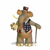 politisk elefant Arkivbild