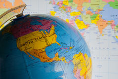 Politisk geografi Fotografering för Bildbyråer