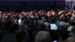 Politisk konferens av innovativ utveckling av landet lager videofilmer