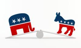 politisk obalans stock illustrationer