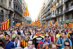 Politisk protest i Barcelona Arkivfoto