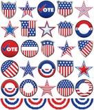 Politiska emblem Arkivfoto