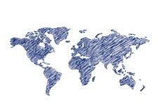 Politiska färgrika världskartaländer också vektor för coreldrawillustration Royaltyfri Illustrationer