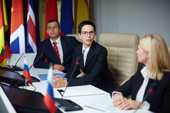 Politiska förhandlingar Royaltyfria Bilder