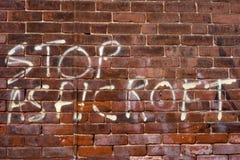 politiska grafitti royaltyfria foton