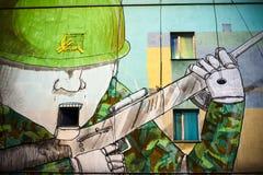 Politiska grafitti för Warszawa Royaltyfri Foto