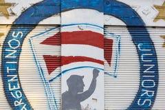 Politiska grafitti i Buenos Aires, Argentina Arkivfoto