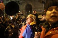 Politiska Rumänien samlar Fotografering för Bildbyråer