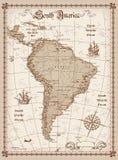 politiska söder Amerika för kontinental översikt royaltyfri illustrationer