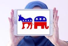 Politiska symboler för USA val Arkivfoton