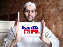 Politiska symboler för USA val Arkivfoto