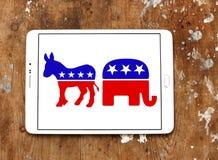Politiska symboler för USA val Royaltyfri Foto