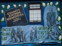 Politiska väggmålningar på Belfast Royaltyfria Bilder