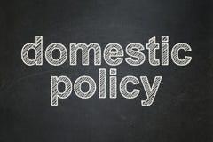 Politiskt begrepp: Inhemsk politik på svart tavlabakgrund vektor illustrationer
