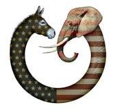 Politiskt partidjur Fotografering för Bildbyråer