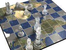 politiskt schack Royaltyfri Foto