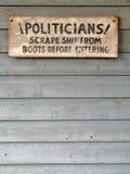 politiskt tecken Royaltyfria Foton