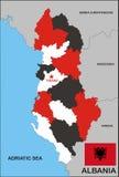 polityczna Albania mapa ilustracja wektor