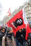 Polityczna demonstracja w Francja Zdjęcie Royalty Free