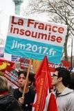 Polityczna demonstracja w Francja Zdjęcia Stock