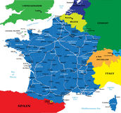 polityczna France mapa ilustracji