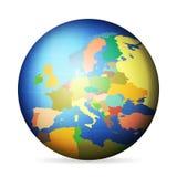 Polityczna kula ziemska Europa royalty ilustracja
