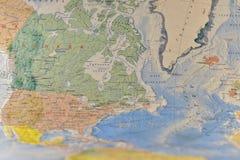 Polityczna mapa militarny wyposażenie Obraz Royalty Free