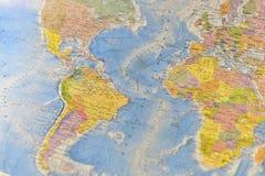 Polityczna mapa militarny wyposażenie Zdjęcie Stock
