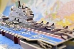 Polityczna mapa militarny wyposażenie Obrazy Stock