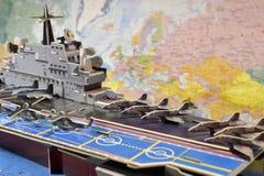 Polityczna mapa militarny wyposażenie Fotografia Royalty Free