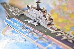 Polityczna mapa militarny wyposażenie Obrazy Royalty Free