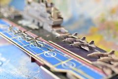 Polityczna mapa militarny wyposażenie Zdjęcie Royalty Free