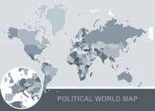 Polityczna mapa świat _ ilustracja wektor